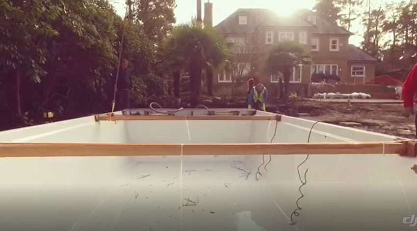 LPW One Piece Pool Installed in the UK